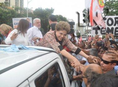 Dilma participa de ato de campanha de Alice Portugal no Campo Grande; veja vídeo