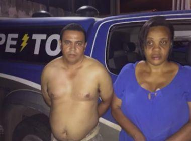 Casal que fingia trabalhar em corretora para aplicar golpes é preso em Feira