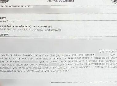 Homem registra ocorrência contra esposa por não aguentar mais 'tomar chifre'