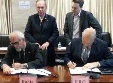 Governo assina documentos em prol da concretização da Fiol e do Porto Sul