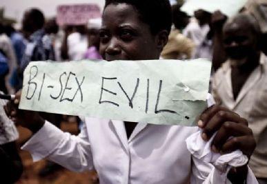 Manifestação anti-homossexualidade em Uganda