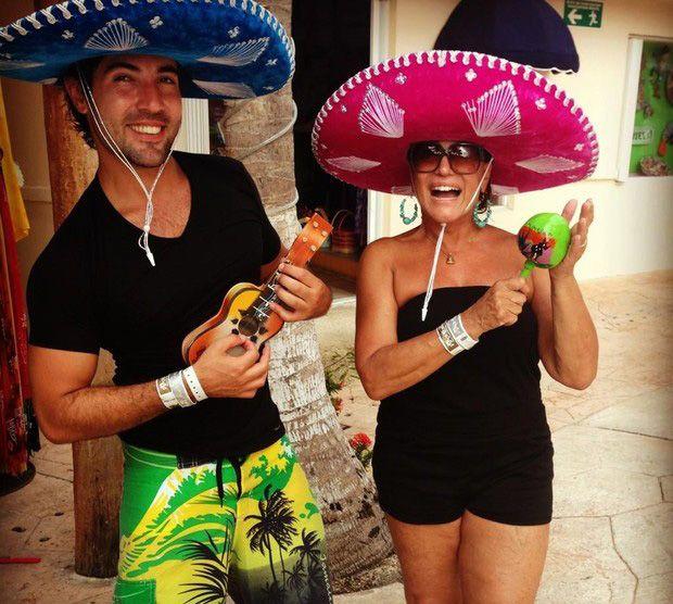 Sandro Pedroso e Susana Vieira no ritmo mexicano / Divulgação/Twitter oficial