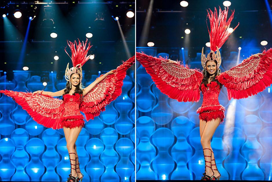 Miss Maranhão, Larissa Pires, revoadas de Guarás é homenagem a um pássaro nativo da Ilha do Caju