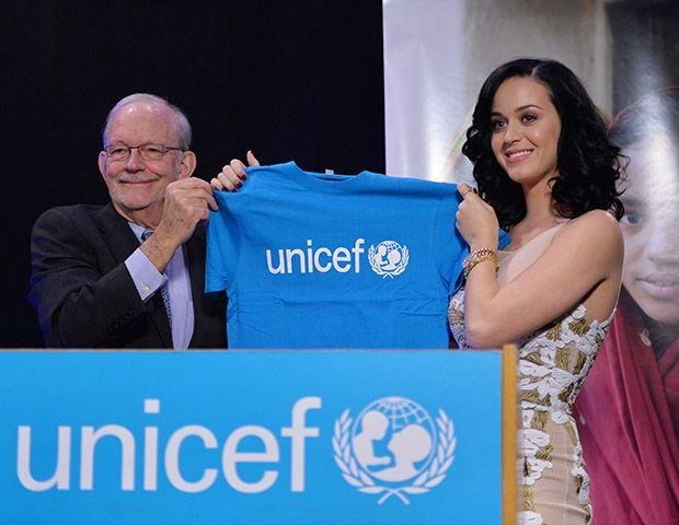 Katy foi a evento da Unicef nesta terça-feira / Stan Honda/AFP