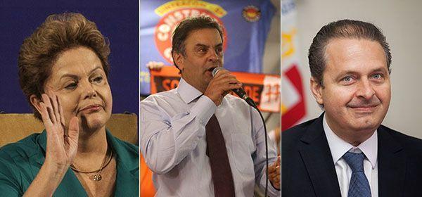 Dos três, apenas Dilma não fará campanha neste domingo / Folha Press e Divulgação