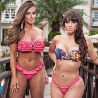 Nicole Bahls e Carol Dias participam de ensaio sensual
