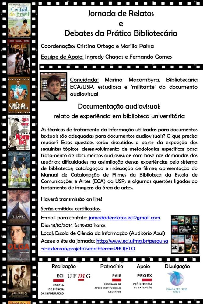 Palestra sobre documentação audiovisual na UFMG