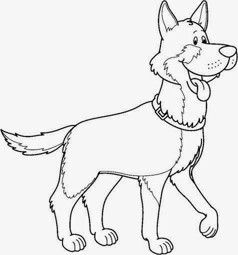Dibujos de perros para colorear para niños - Imagenes De ...
