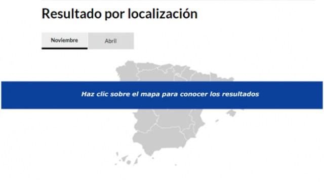 Mapa de resultados de las elecciones generales