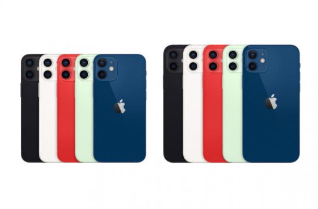 Tamaños y colores del iPhone 12 mini y del iPhone 12