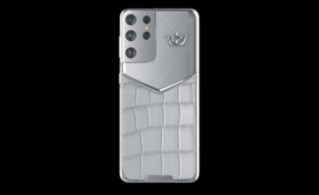 El modelo White Alligator, de cuero de cocodrilo