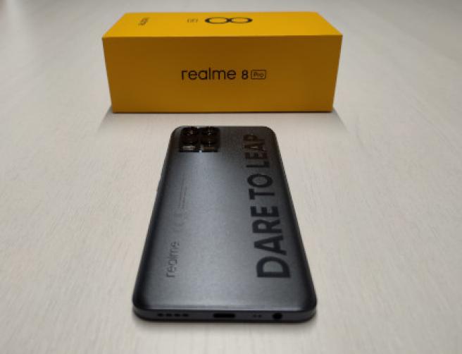 El Realme 8 Pro y su caja