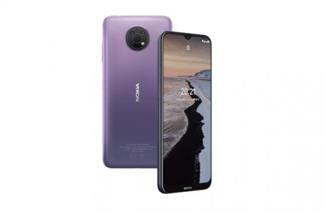 Trasera y frontal del Nokia G10