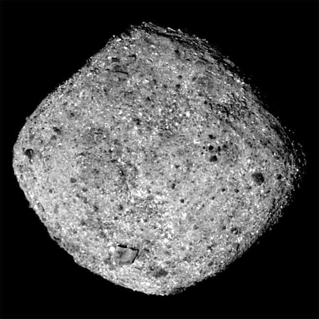 Así es el asteroide Bennu.