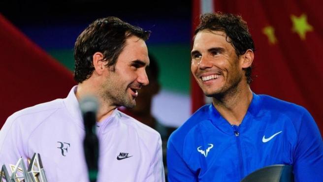 Roger Federer y Rafa Nadal.