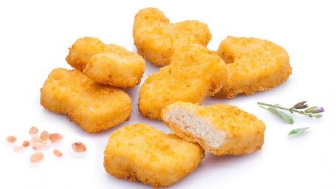 Imagen de unos 'nuggets' de pollo publicada por 3D Bioprinting Solutions