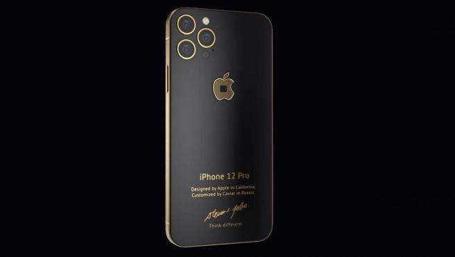 El modelo 'Gold' del iPhone 12 Pro rediseñado por Caviar.