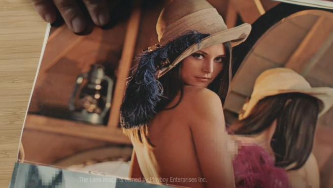 Lena Söderberg en su foto para Playboy de 1972.
