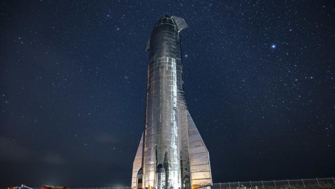 Imagen de archivo de Starship durante su primera prueba en septiembre de 2019.