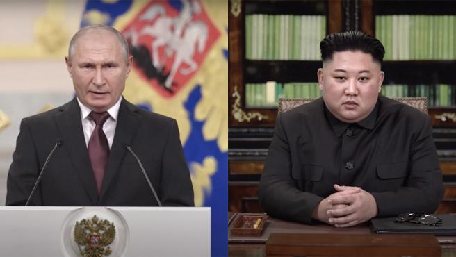Vladimir Putin y Kim Jong-un en el vídeo deepfake realizado por RepresentUs.