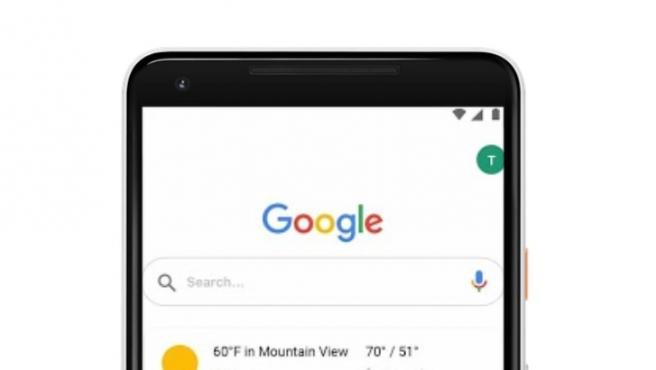 Buscador de Google en el móvil.