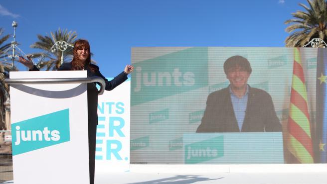 Borràs y Puigdemont abordan en Bruselas la estrategia negociadora de Junts tras el 14F