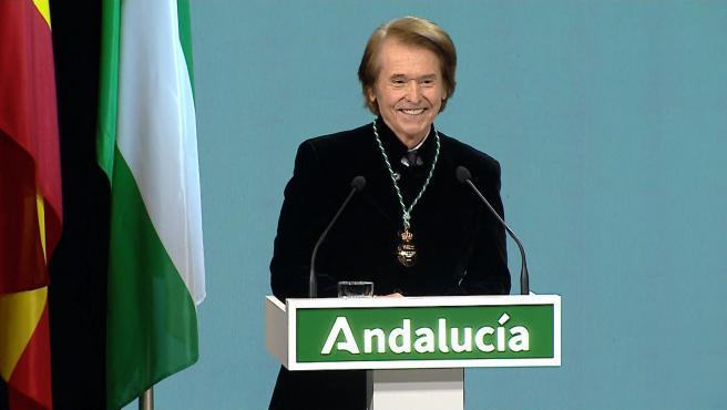 "Raphael: ""Qué orgullo tener una segunda madre que se llama Andalucía"""