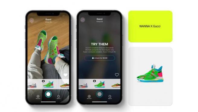 Las Virtual 25 son de color verde neón y rosa y están diseñadas por Alessandro Michele, el director creativo de Gucci.