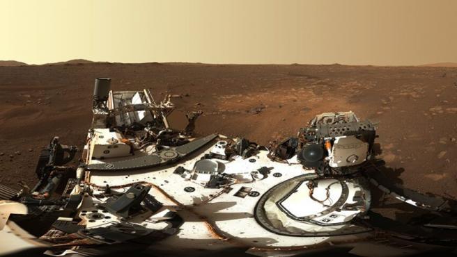 El rover Perseverance en Marte.