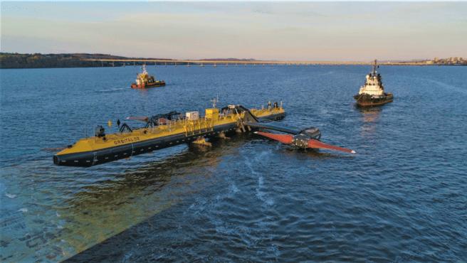 La turbina O2 está instalada en la superficie y profundidades marinas.