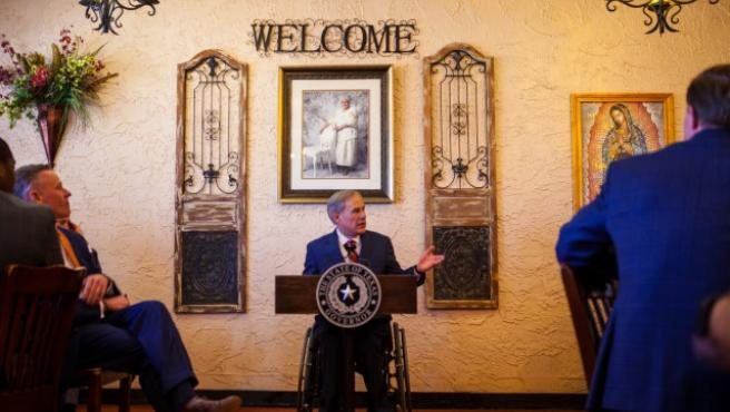 El gobernador texano Greg Abbott.