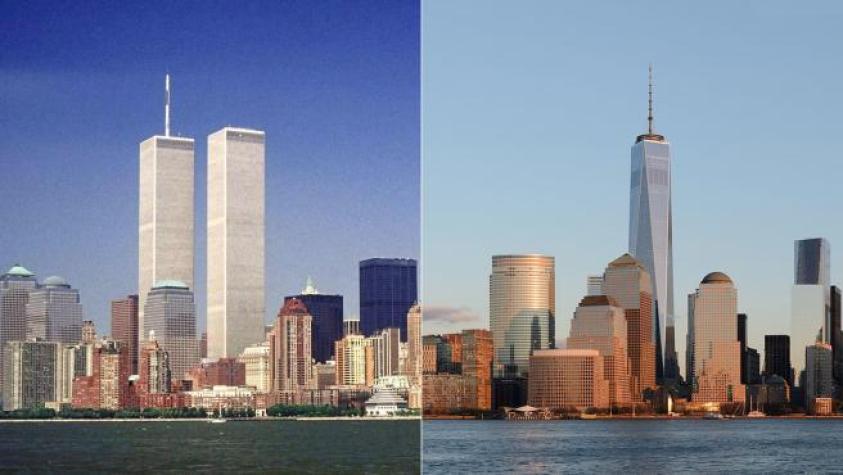 Así luce el 'skyline' de Manhattan antes y después del 11-S
