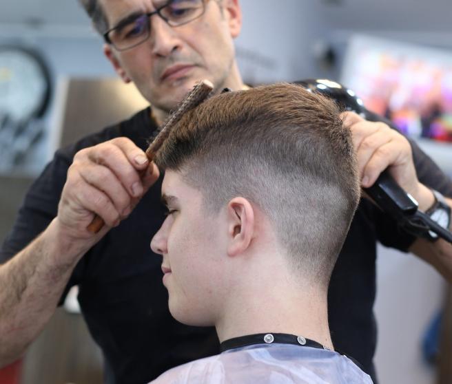 Cliente en una peluquería.
