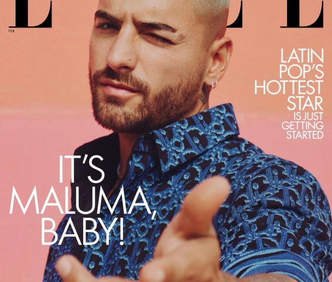 Maluma en la portada de 'Elle'.