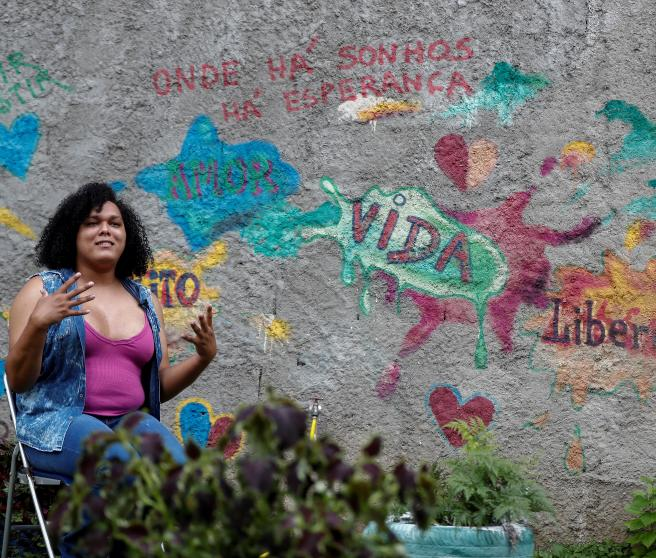 Susy Muniz, fotografiada en una casa de acogida de Sao Paulo.