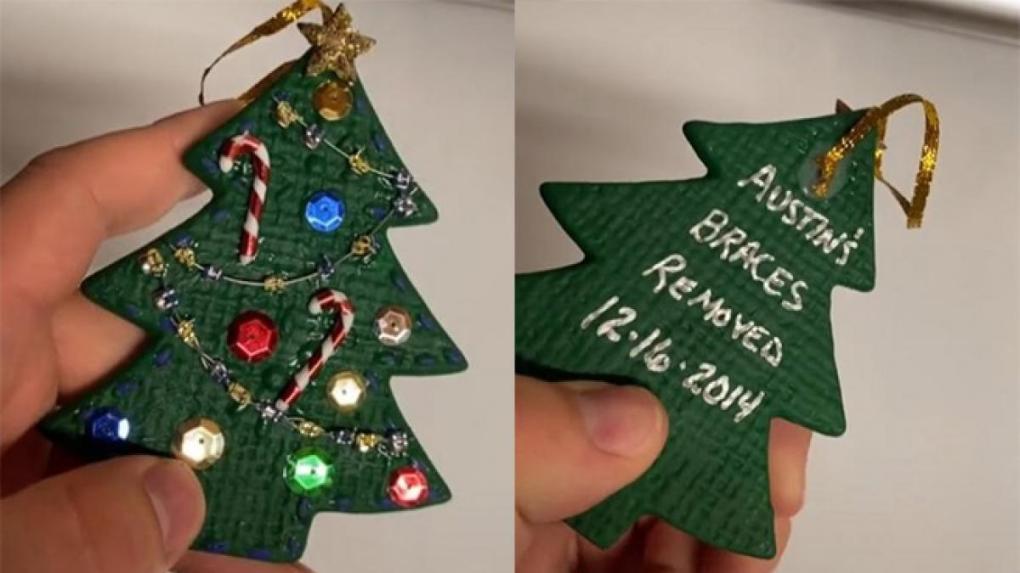montaje del adorno de navidad