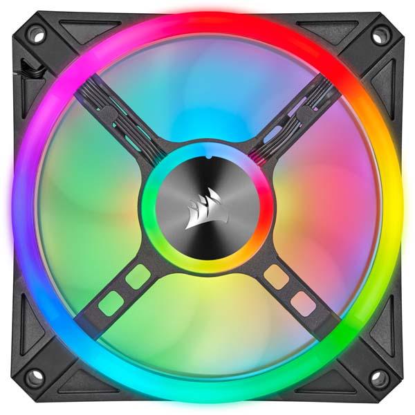 Corsair iCUE QL120 PWM RGB Lighting Node CORE (Triple Pack) - Ventilador 12cm