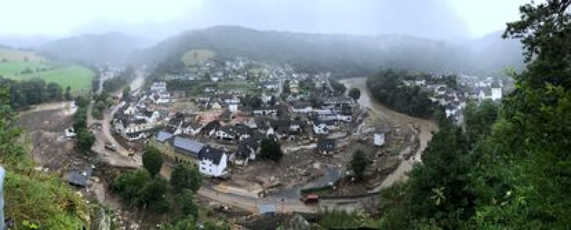 Aerial view of Schuld on Saturday the 16th.