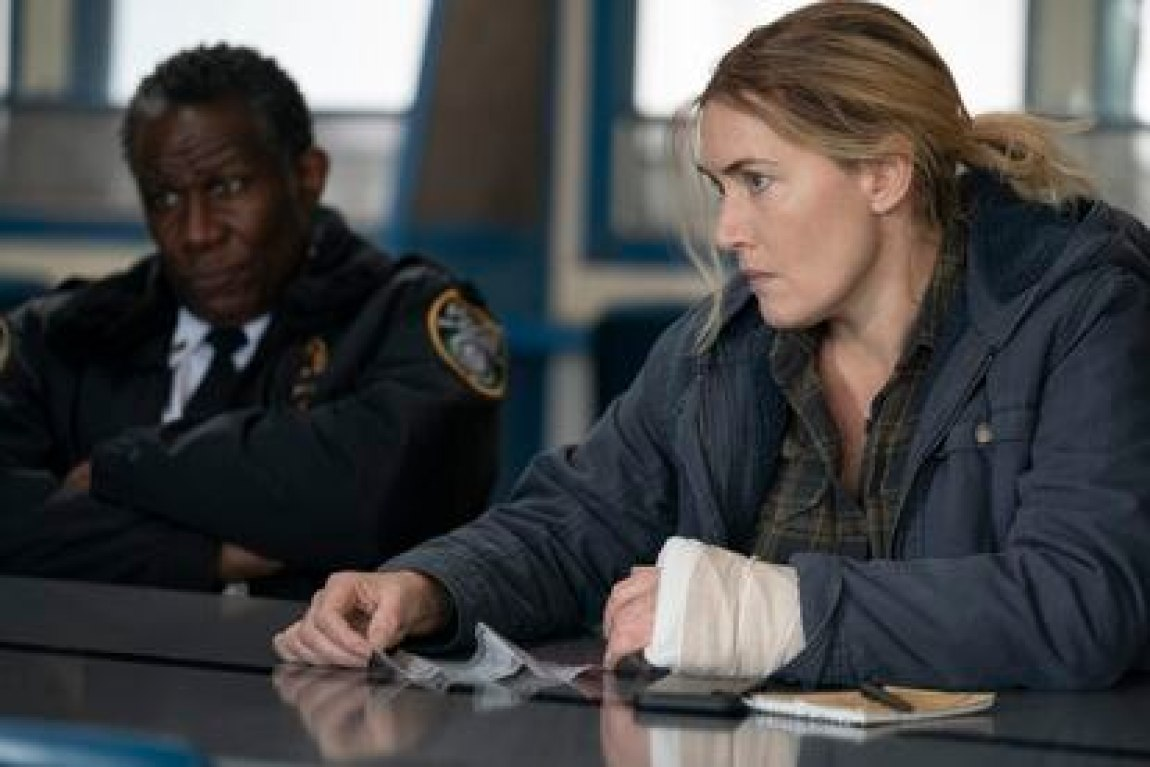 John Douglas Thompson and Kate Winslet, in 'Mare of Easttown'.