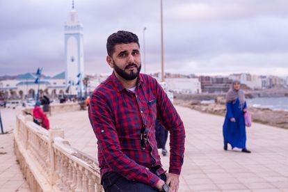 Zakaria Zarruki, licenciado en Derecho, en la localidad marroquí de Fnideq (antigua Castillejos), el pasado 20 de mayo.