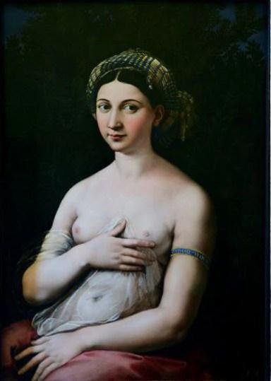 'La Fornarina', by Rafael Sanzio.