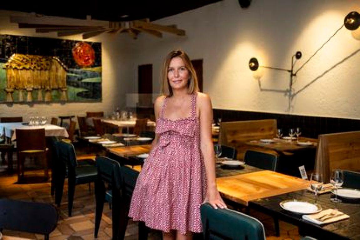 Marta García at the Portomarín restaurant in Lavapiés, this Thursday.