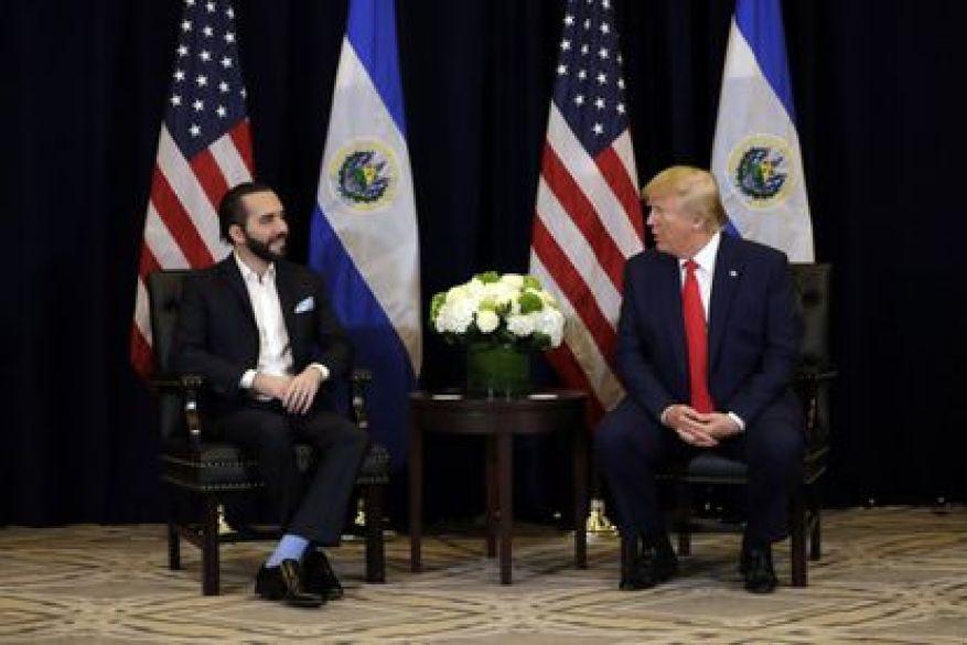 Bukele und Trump treffen sich im September 2019 in New York.