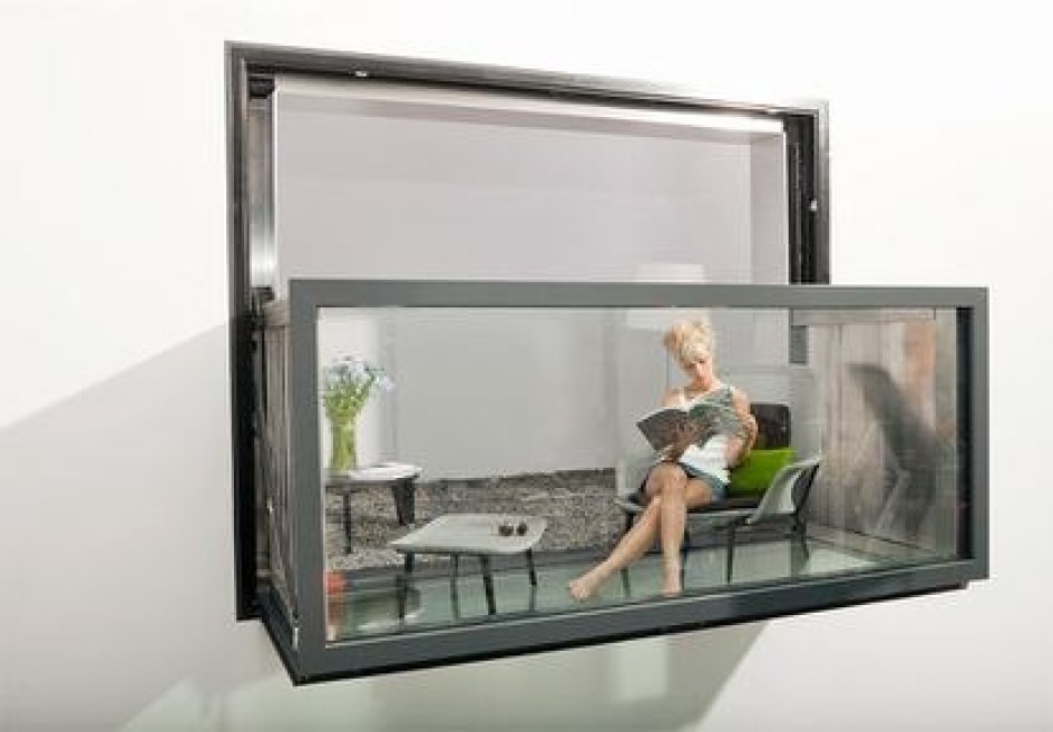 Bloomframe, the window that can be converted into a balcony.
