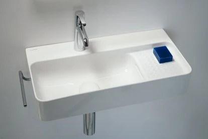 Laufen extra-fine ceramic washbasin.