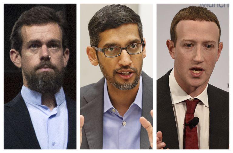 Google, Facebook y Twitter difieren antes de testificar ante el congreso de los EEUU