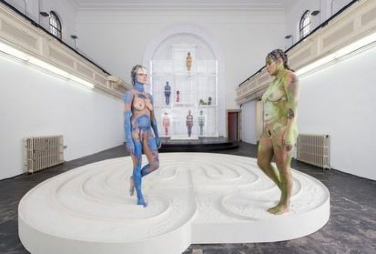 'Scar Cymbals', installation by Donna Huanca exhibited at the Zabludowicz Collection in London in 2015.