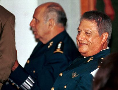 Mario Arturo Acosta Chaparro during the court martial that tried him in October 2002 for his involvement with drug trafficking.