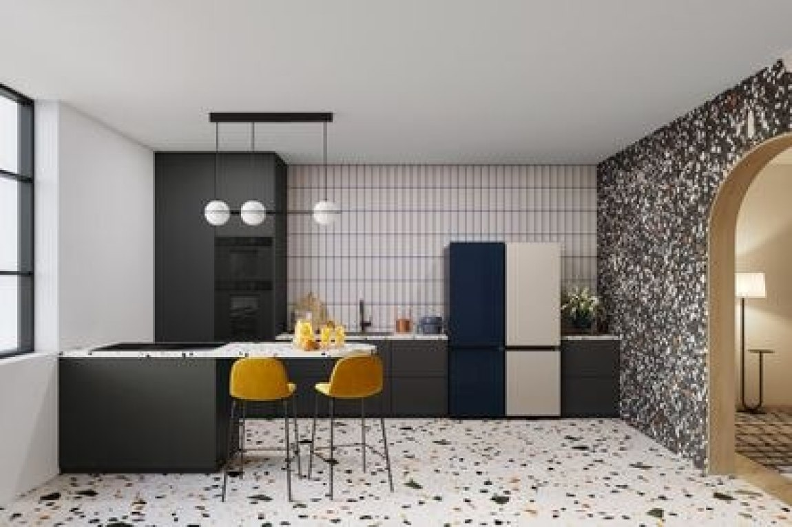 The Samsung model is a high-performance modular refrigerator that expands or contracts according to individual needs.
