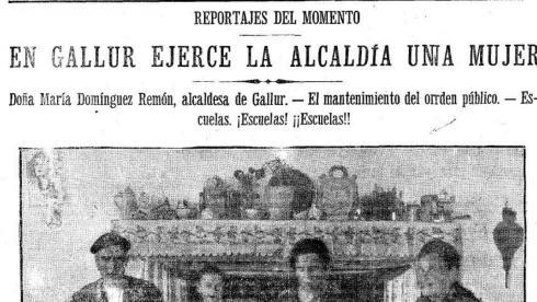 Encuentran en Fuendejalón el cuerpo de María Domínguez, la primera  alcaldesa de España